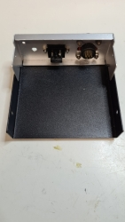 Inside view of the control box rear panel