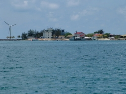 The naval base on the island