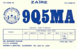 QSL for contacts with Julian