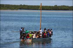 Local transport to Ibo Island