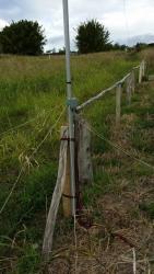 Base fixed to pole