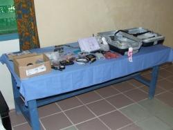 Equipment and parts at display