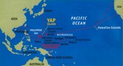 Location of Yap island