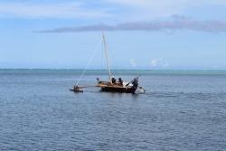 Sailing a canoo