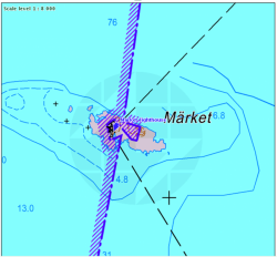 Market on a nautical map
