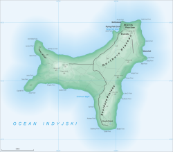 Map of Chistmas Island